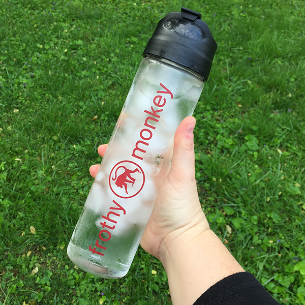 18 oz glass water bottle
